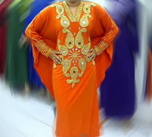 Dress Pesta Kaftan Romaine