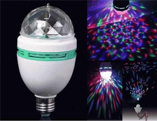 JUAL Lampu DISCO mini atau Lampu PARTY (LED FULL COLOR ROTATING LAMP) MURAAH!!