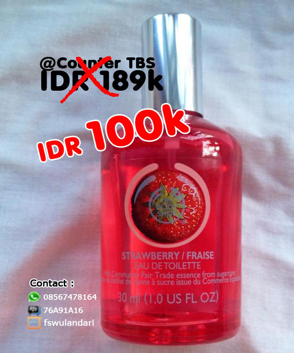 [MINI SHOP] Parfum The Body Shop Ori Reject Murah Meriah EDT-NEW STRAWBERRY- 30ML-100K
