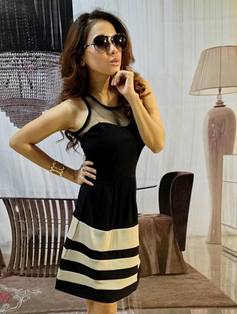 Dress Black Cream Upper Transparent (BS D 40)