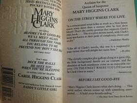 "English Novel Mary Higgins Clark ""ON The Street Where You Live"""
