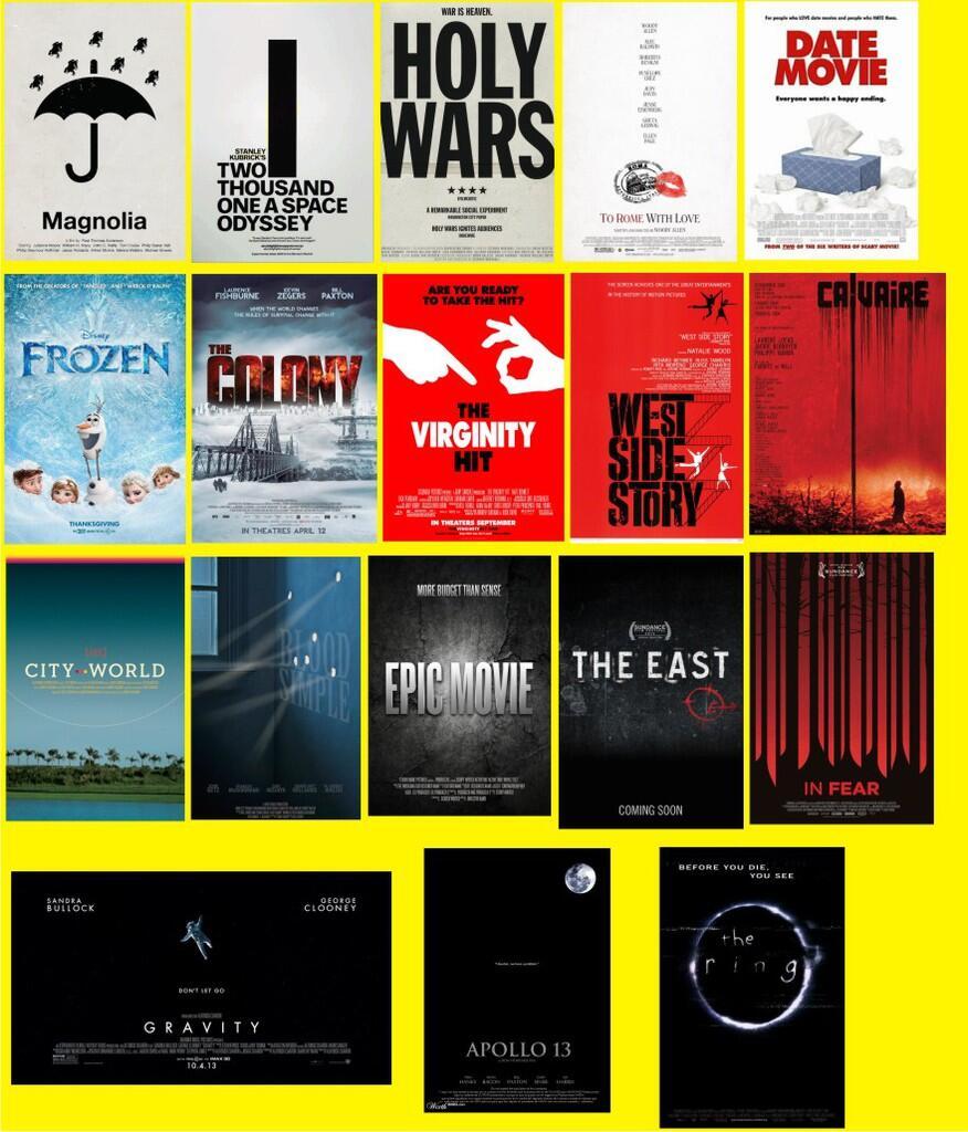 13 Poster Film Populer yang Klise ABIIIIIISSSS