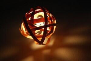 [❥] Kerajinan lampu gantung dari Strip Venner Bekas kualitas Berkelas