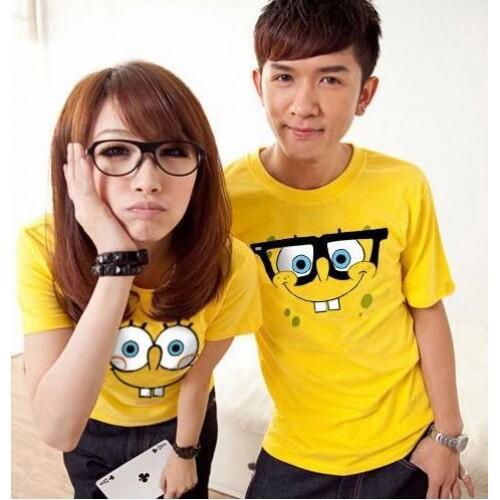 Ob Spongebob Baju Kaos Couple Pasangan Modis Koleksi Terbaru