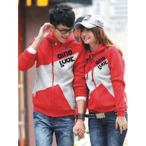 Jacket Mv Red Qing Combination Baju Couple Pasangan Modis Koleksi Terbaru