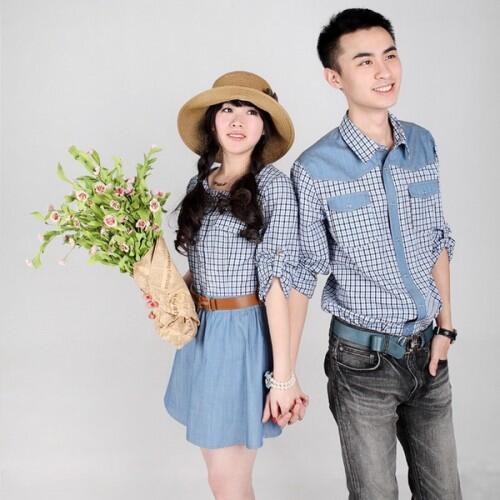 Dress Greya Caster Baju Couple Baju Pasangan Modis Koleksi Terbaru