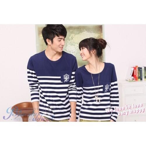 Lp Wheat Navy Baju Couple Baju Pasangan Modis Koleksi Terbaru