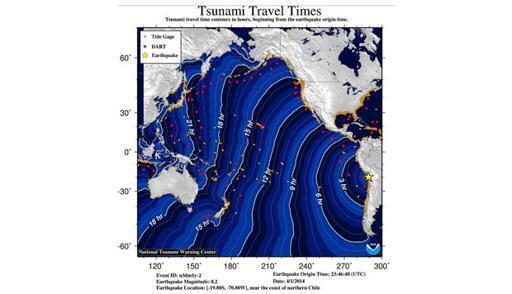 Besok Pagi, Tsunami Cile sampai Indonesia Hampir 1 Meter.