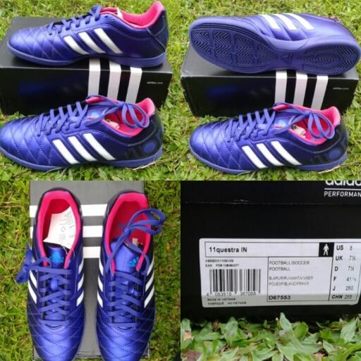 Terjual jual sepatu futsal Adidas 11questra in Purple   Ungu ... eaf7f65e16