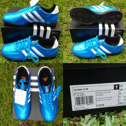 Terjual jual sepatu futsal Adidas Goletto IV IV Solblu   biru ... 6403c981e4