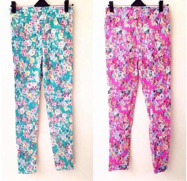 Floral legging on sale!