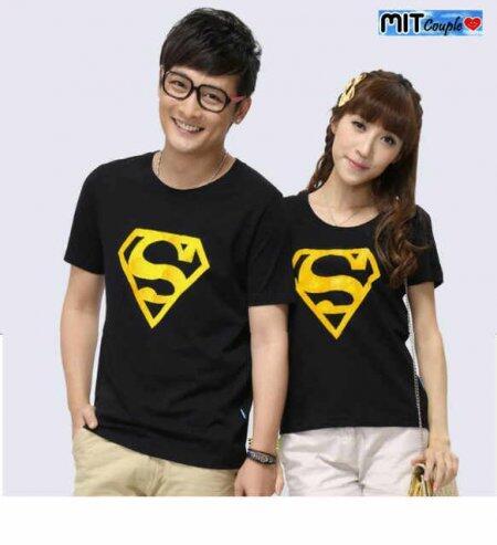 CP Superman Baju Kaos Couple Pasangan Modis Koleksi Terbaru