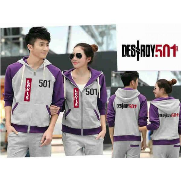 COUPLE JACKET ABU UNGU