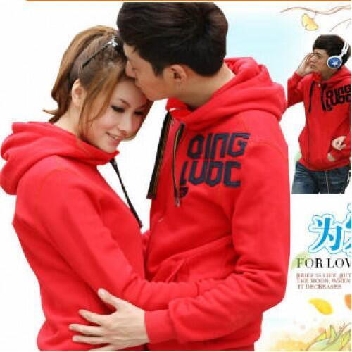 Jacket X2 Red Qing Jaket Baju Kaos Couple Pasangan Modis Koleksi Terbaru