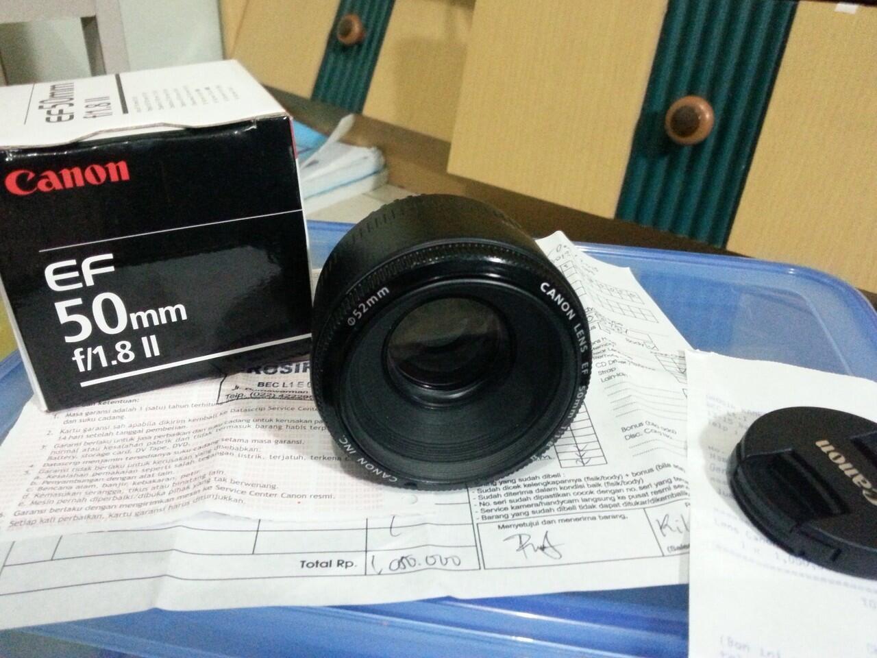 Jual Canon 50mm F1.8 II Bandung