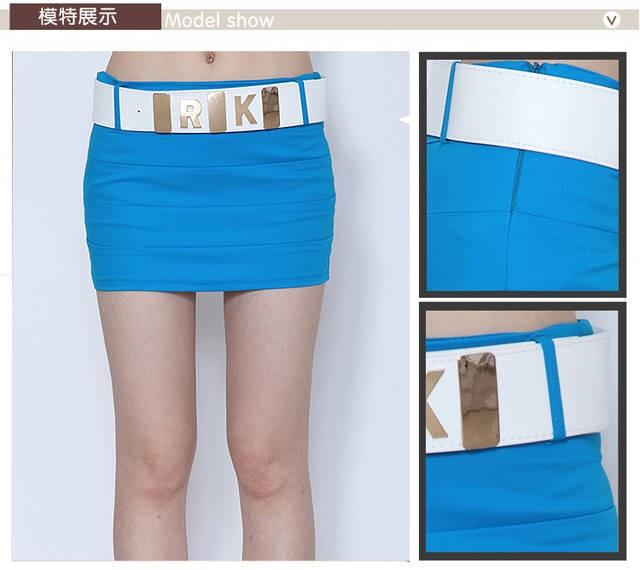 Rok Import + Belt (warna : pink, yellow, blue) baju impor