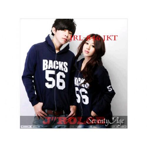 Jacket Back56 Jaket Baju Kaos Couple Pasangan Modis Koleksi Terbaru