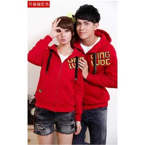 Jacket New Red Qing Jaket Baju Kaos Couple Pasangan Modis Koleksi Terbaru