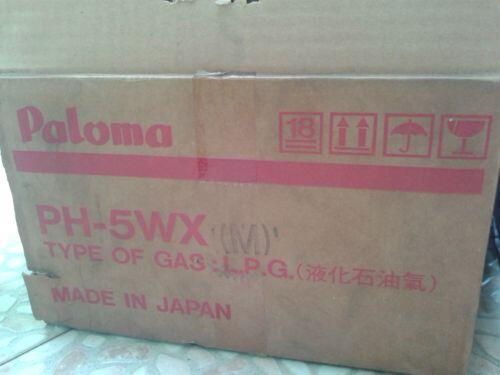 jual murah dua unit paloma water heater ph-5wx pake gas, masih baru full set