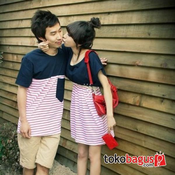 Dress Kiss Me Baju Kaos Couple Pasangan Modis Koleksi Terbaru