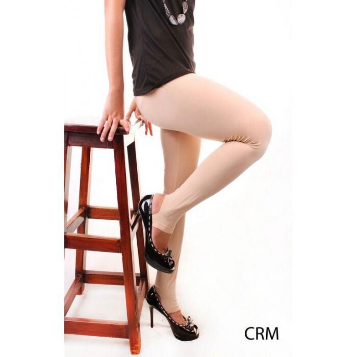 Legging Polos Injak Kaki - Nylon Spandek Stretch-