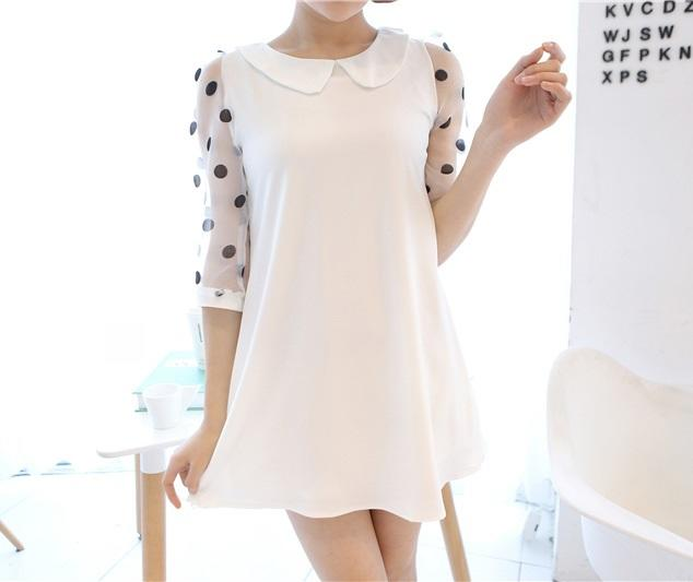 Cute dress import white Rp 105.000