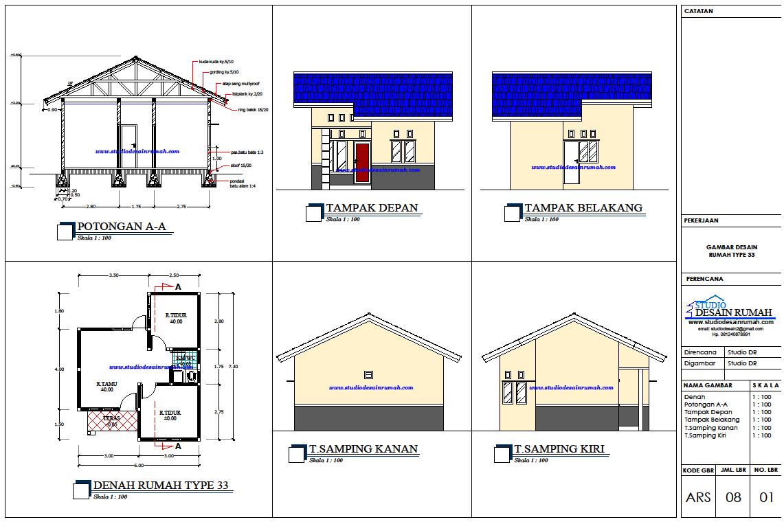 Gambar Desain Rumah Type 33 R23