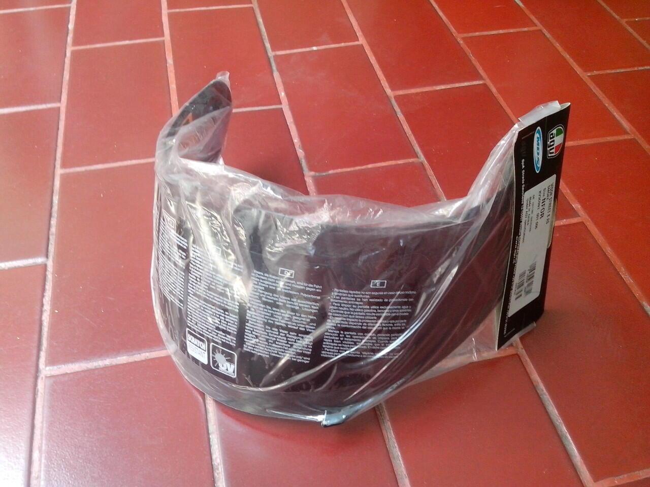Terjual Wts Visor Kaca Helm Agv K3 Dark Smoke Clear Original