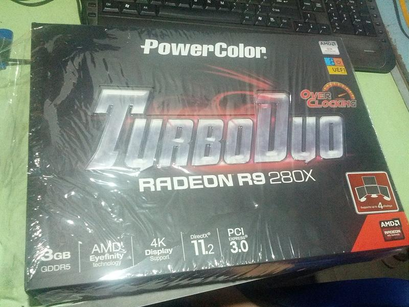 JUAL R9 280X POWER COLOR TURBO DUO 3GB OC