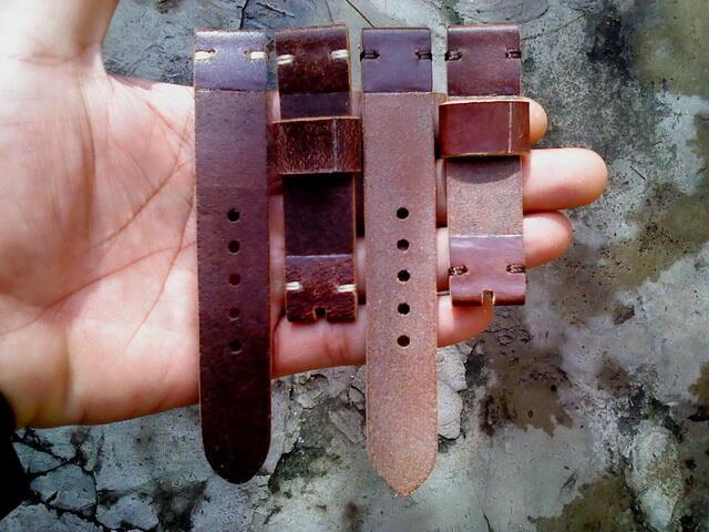 (PART 20) Leather Strap Vintage uk 18/20/22/24mm. ada 28 pieces...murahhh