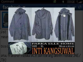 Jaket parka, 250K nego, good condition, size XL