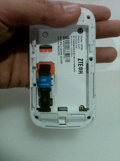 Fake / Dummy Battery modem ZTE MF90 aka BOLT Tangsel Ciputat