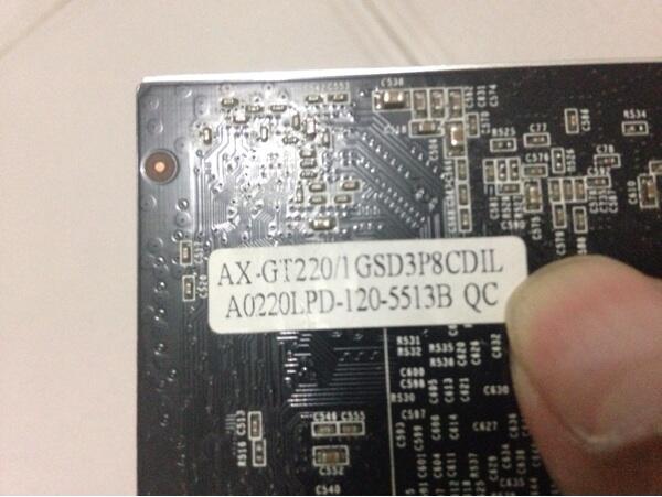 VGA Nvidia Axle GT 220 1gb 128bit dan Ram 4Gb