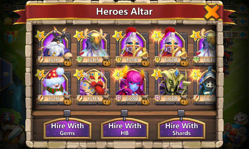 Akun Castle clash Full legend + Immortep (rata rata lv 104)