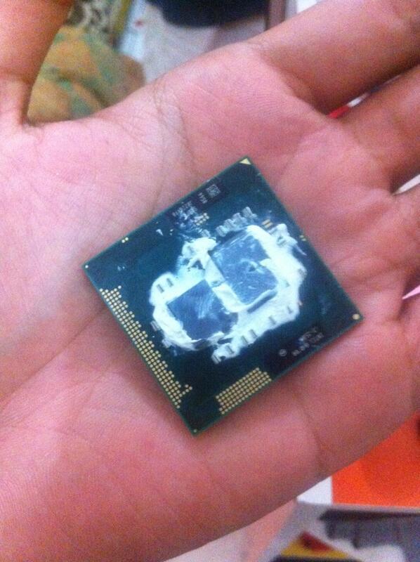 Prosessor Intel Core i3 copotan Laptop HP probook