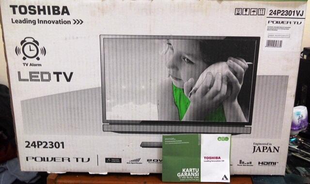 TV Toshiba 24P2301VJ kondisi mulus garansi panjang murmer Jaktim