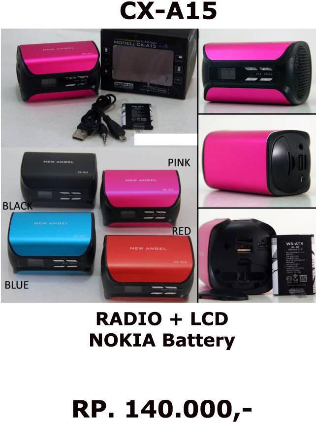 SPEAKER PORTABLE (NESDO) MULTIFUNGSI SUPPORT-BLUETOOTH/USB/MMC/RADIO/ALARM/CLOCK-JAM