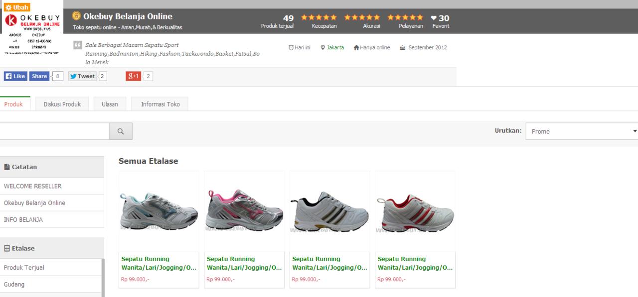 Sepatu Running Wanita Merk KETA.Original Dan Murah