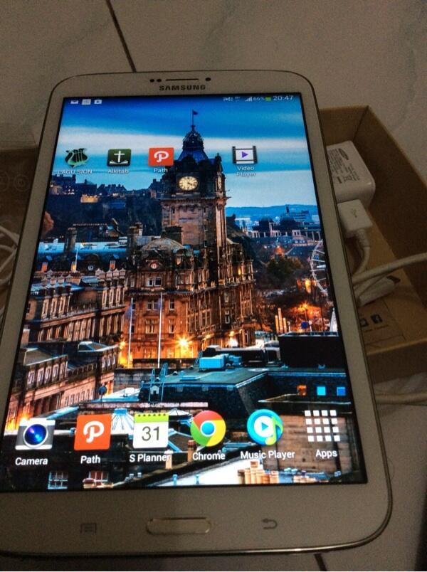 Jual Samsung galaxy tab 3 8 inch , mulus abis, pemakaian sebulan no tipu2