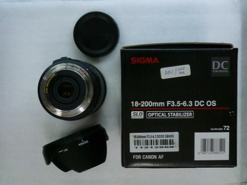 Sigma For Canon 18-200mm F/3.5-6.3 II DC OS HSM ( muraaah dan bagus )