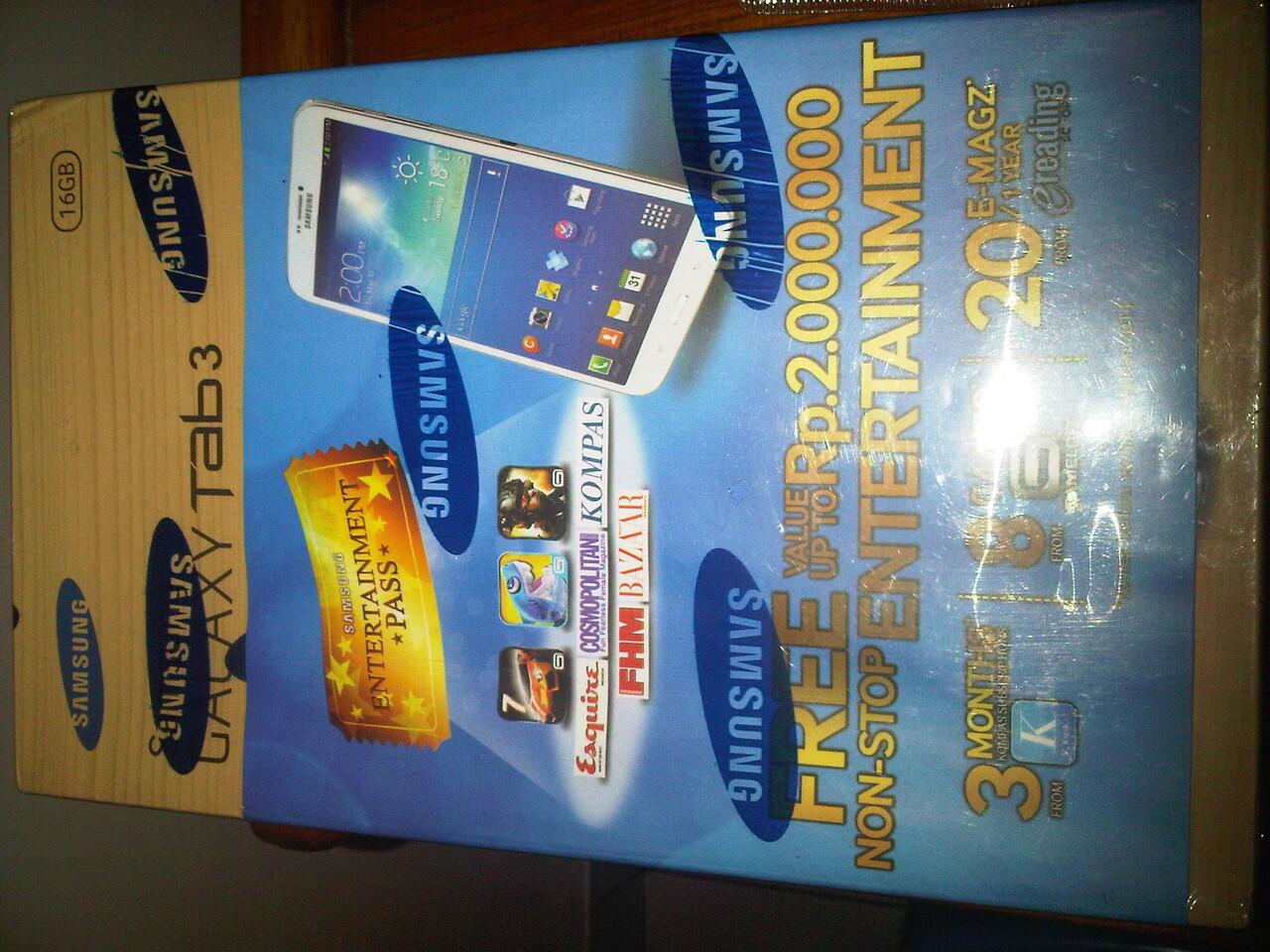 JUAL SAMSUNG GALAXY TAB3 ( 8inch ) 16GB WHITE BARU GRESS!!