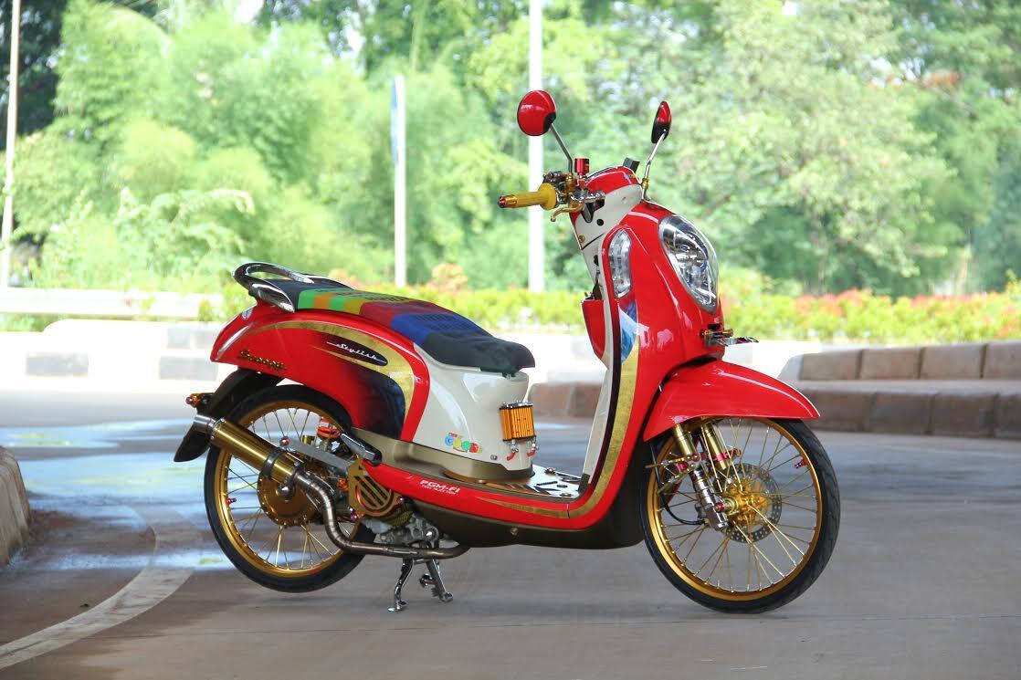 Modifikasi Motor Scoopy Velg 16 Otosarjana
