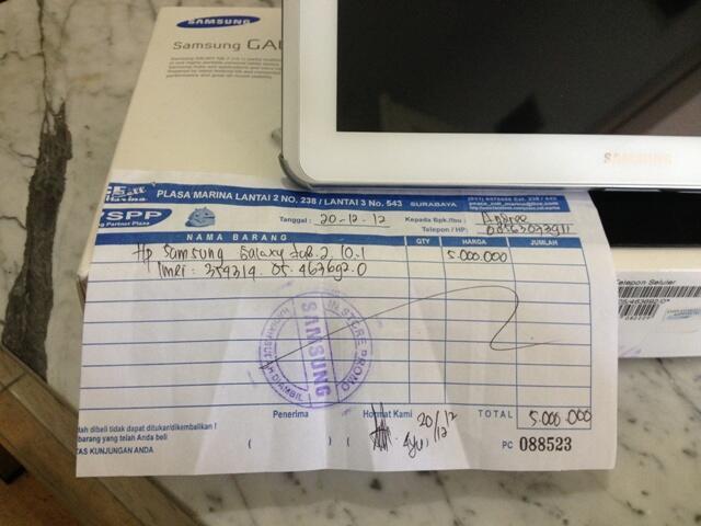 Samsung Galaxy tab 2 - 10.1
