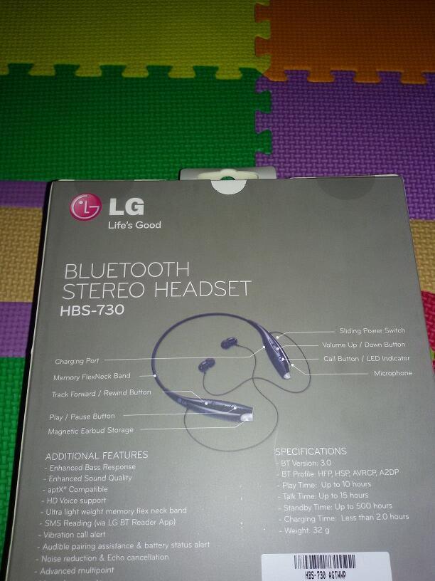 Jual Murah LG Bluetooth Stereo Headset HBS-730 Baru hanya Rp 425,000