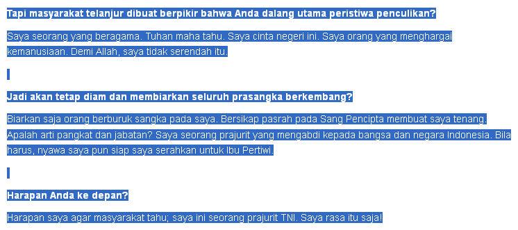 Rekam jejak salah satu capres 2014 (Prabowo Subianto Djojohadikusumo)