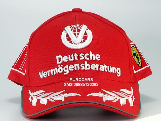 Caps Formula 1 Ferrari Cap World Champion Schumacher 2003 (TOPI ASLI)