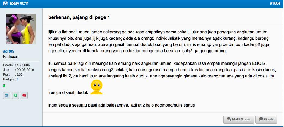 ABG tak kenal empati ke ibu hamil dikecam di media sosial