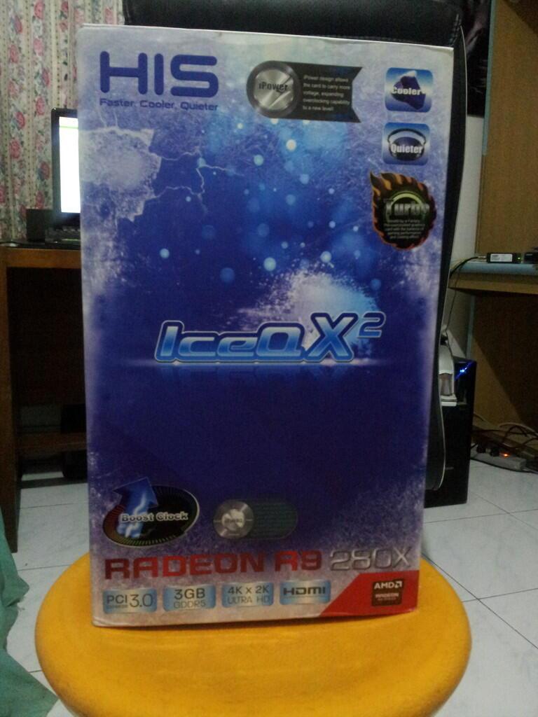 DIJUAL HIS Radeon HD R9 280X ICEQ X2 TURBO 3GB DDR5 BOOST CLOCK IPOWER