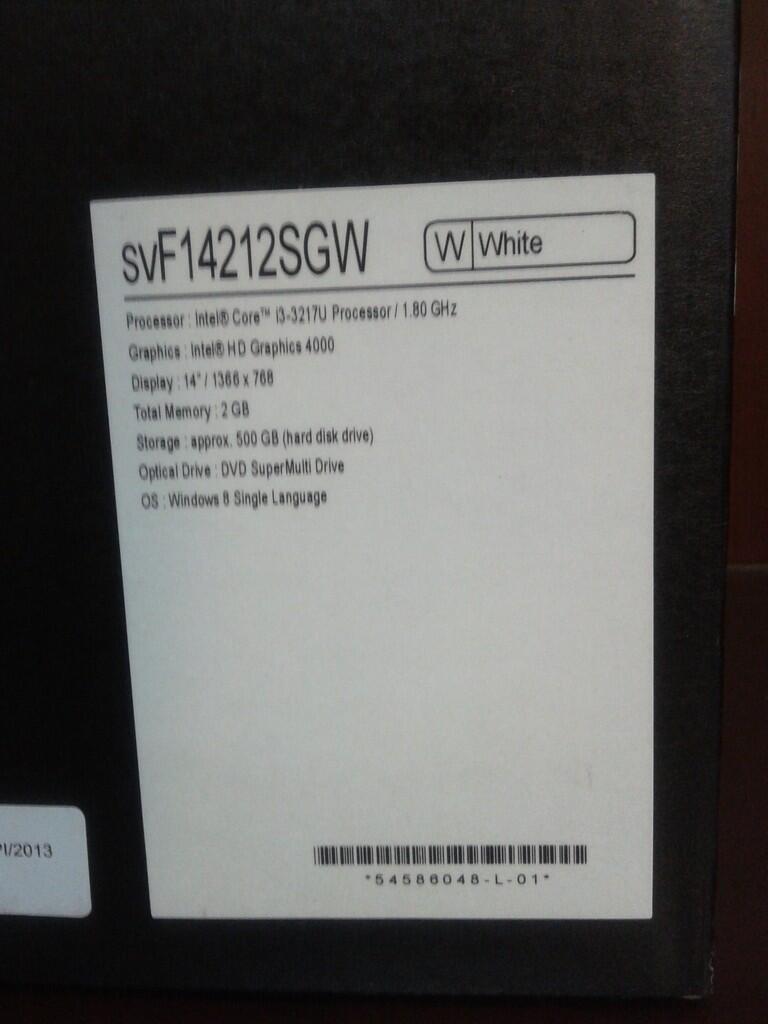 Jual Laptop Sonny VAIO