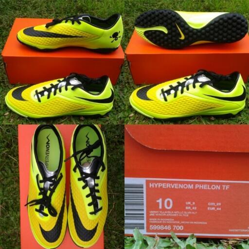 jual sepatu futsal nike Hypervenom phelon TF TURF vibrant yellow neymar  original e8b6699972